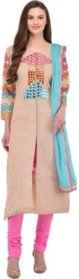 Style Amaze Jute Embroidered Semi-stitched Salwar Suit Dupatta Material at flipkart