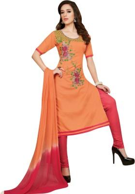 Oomph! Cotton Embroidered Salwar Suit Dupatta Material(Un-stitched) at flipkart