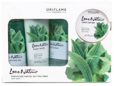 Oriflame Sweden Love Nature Facial Kit Tea Tree 425 ml(Set of 4) at flipkart