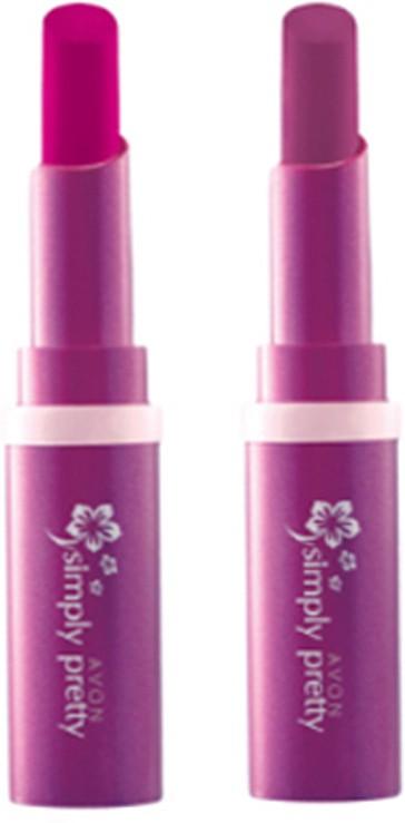 Avon Anew Color Last Lipsick (set of 2 ) -(4 g, (sweet strawberry - rare raspberry))