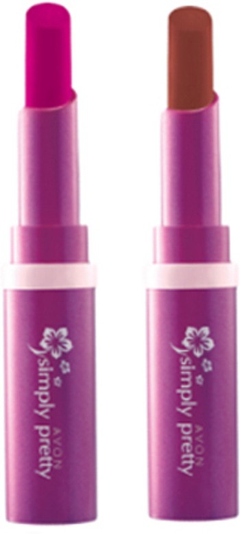 Avon Anew Color Last Lipsick (set of 2 ) -(4 g, (sweet strawberry - perfect brown))