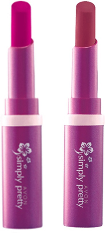 Avon Anew Color Last Lipsick (set of 2 ) -(4 g, (sweet strawberry - luscious cherry))