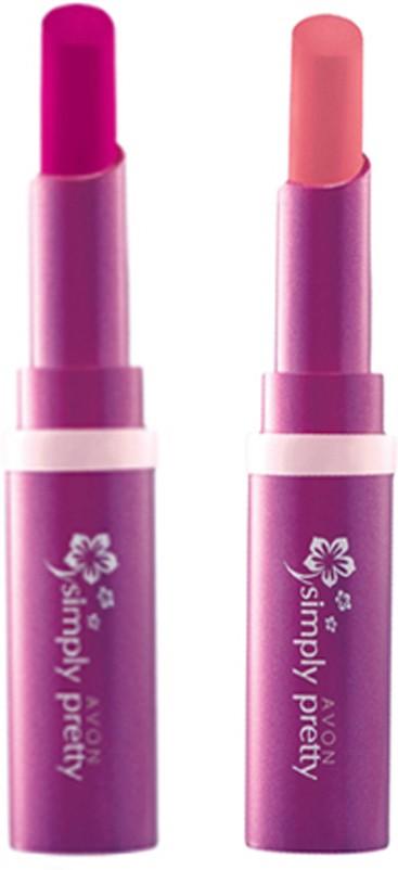 Avon Anew Color Last Lipsick (set of 2 ) -(4 g, (lucky orange - sweet strawbeery))