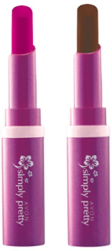 Avon Anew Color Last Lipsick (set of 2 ) -(4 g, (sweet strawberry - dark chocolate))