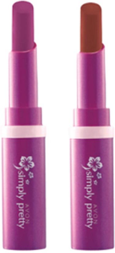 Avon Anew Color Last Lipsick (set of 2 ) -(4 g, (rare raspberry - perfect brown))