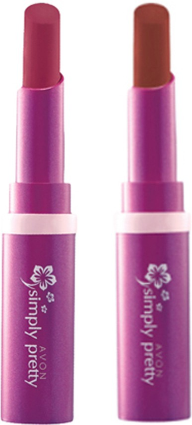 Avon Anew Color Last Lipsick (set of 2 ) -(4 g, (luscious cherry - perfect brown))