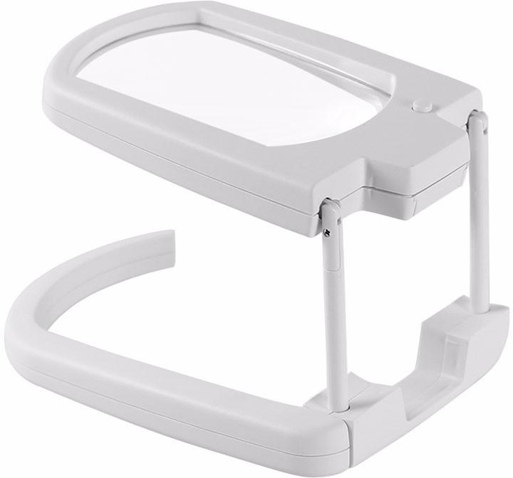 575607c07402 Pia International FOLDABLE 2LED 3X Magnifying Glass(White)