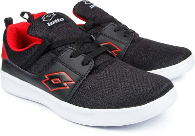 Lotto String Running Shoes(Black, Red)