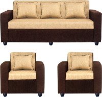 Bharat Lifestyle Tulip311 Solid Wood 3 + 1 + 1 Brown Sofa Set(Configuration - 3+1+1)