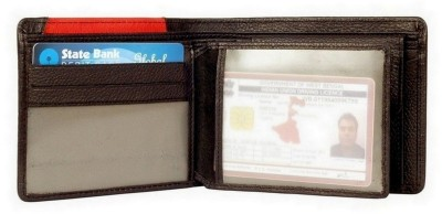 Imex International Men Black, Red Genuine Leather Wallet(5 Card Slots)
