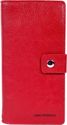 Lino Perros Women Red Artificial Leather Wallet(6 Card Slots)