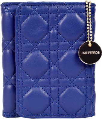 Lino Perros Women Blue Artificial Leather Wallet(6 Card Slots)