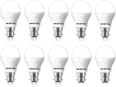 Infini 9 W Standard B22 LED Bulb(White, Pack of 10) Image
