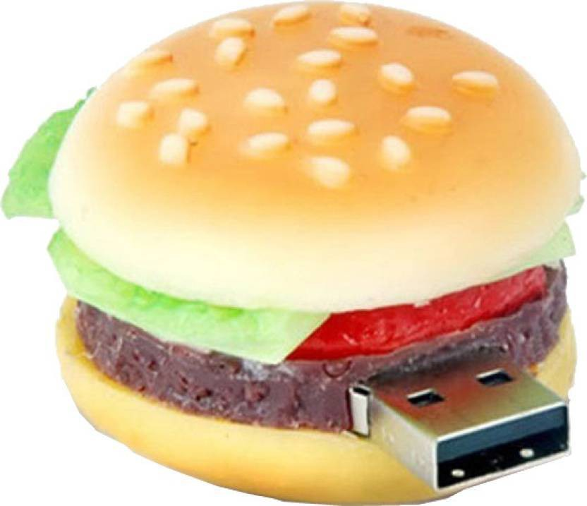 View Microware Burger Shaped 16 GB Pen Drive(Brown)  Price Online
