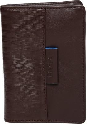 Viari Men Brown Genuine Leather Wallet(3 Card Slots)