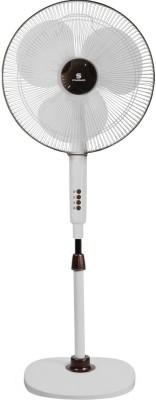 Standard Alfa Pedestal 3 Blade Pedestal Fan(Pearl Brown) 400mm
