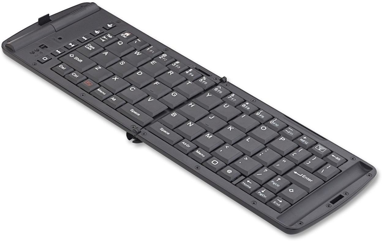 MEZIRE Folding Bluetooth H-5 Wireless Tablet Keyboard(Black)