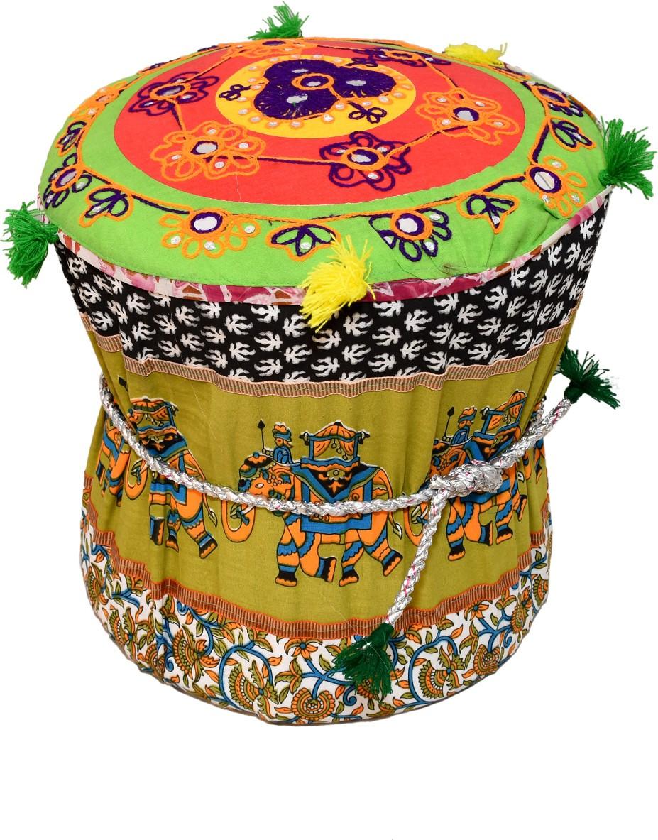View Rang Rohi Fabric Standard Ottoman(Finish Color - multicolor) Furniture (Rang Rohi)