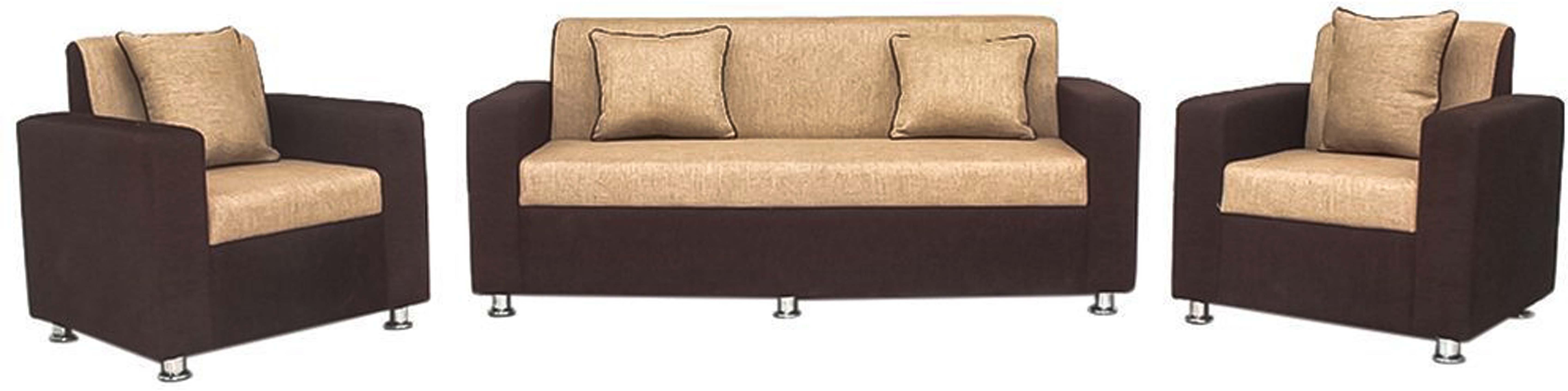 View Comfy Sofa Classy Fabric 3 + 1 + 1 Cream Sofa Set(Configuration - Straight) Furniture (COMFY SOFA)