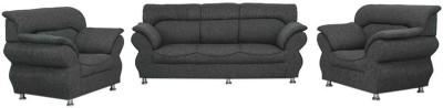 Comfy Sofa Classy Engineered Wood 3 + 1 + 1 Grey Sofa Set(Configuration - Straight)