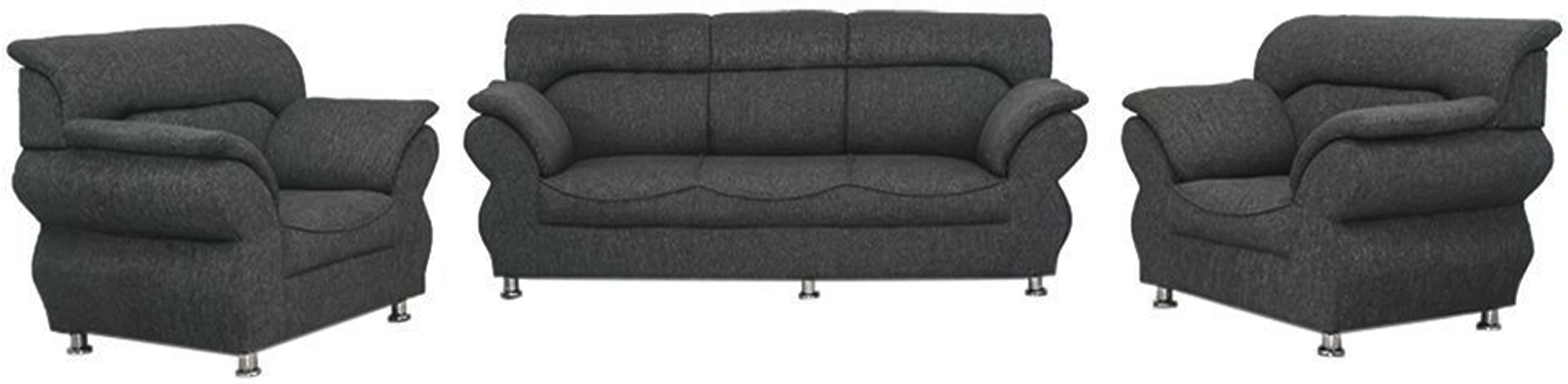 View Comfy Sofa Classy Fabric 3 + 1 + 1 Grey Sofa Set(Configuration - Straight) Furniture (COMFY SOFA)