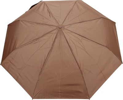 FabSeasons Solid Plain Umbrella(Brown)