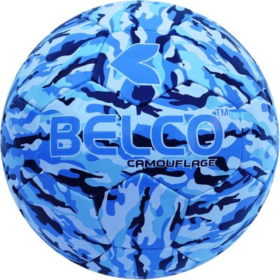BELCO Camouflage-3 Football - Size: 5(Pack of 1, Blue)