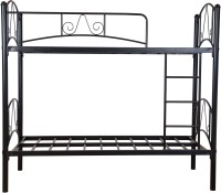 FurnitureKraft Prague Metal Bunk Bed(Finish Color - Black)