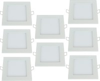 Bene 12w Square Panel, Color of LED White (Pack of 8 Pcs) Recessed Ceiling Lamp