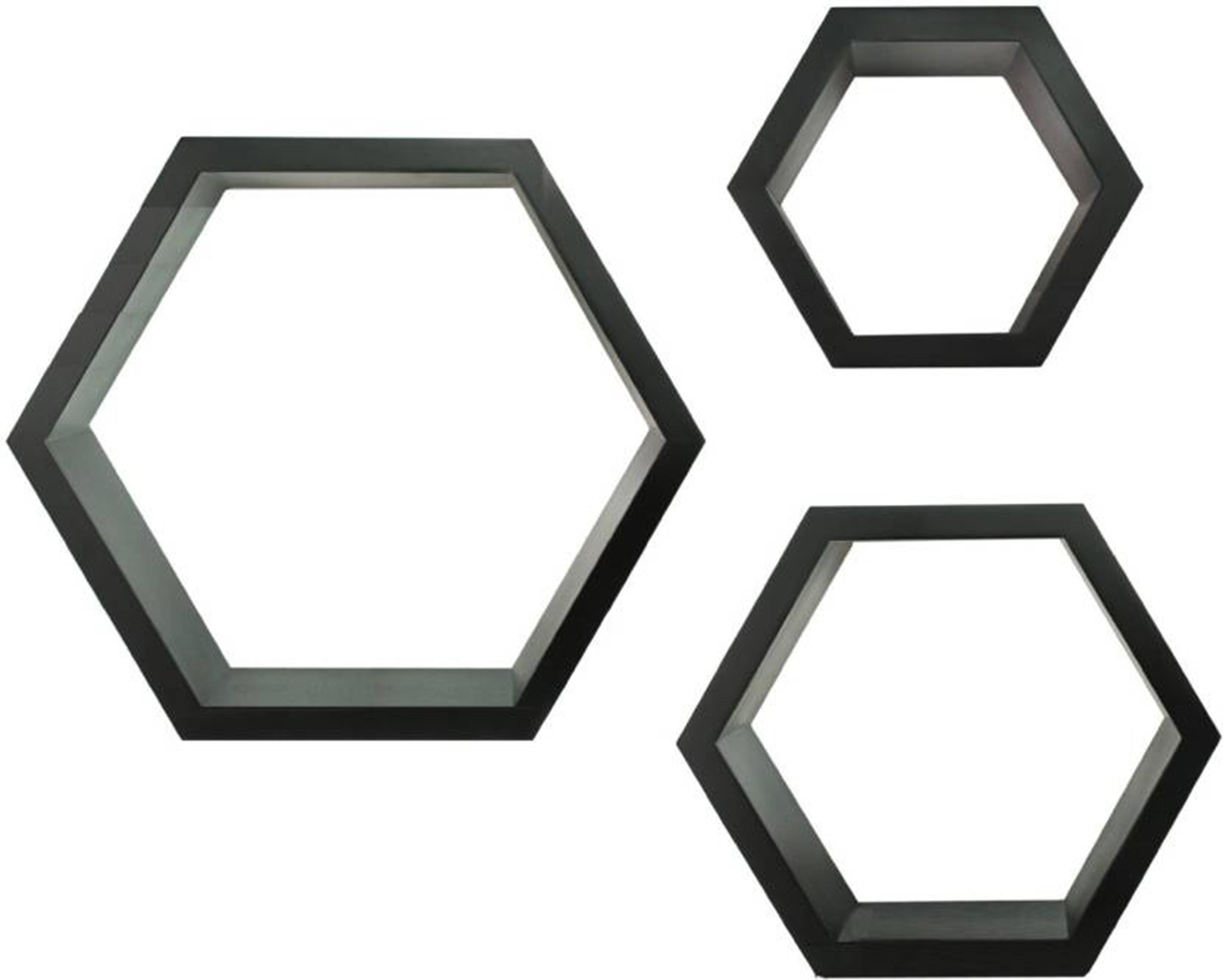 View Woodenartisan Wooden Wall Shelf(Number of Shelves - 3, Black) Furniture (Woodenartisan)
