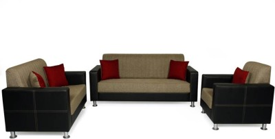 Comfy Sofa Classy Engineered Wood 3 + 2 + 1 Beige Sofa Set(Configuration - straight)