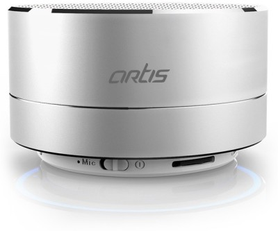 Artis Artis BT14 Wireless Portable Bluetooth Speaker with FM / TF Card Reader / Mic. / Led Light Portable Bluetooth Mobile/Tablet Speaker(Silver, Mono Channel)