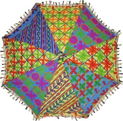 Lal Haveli Embroidered Umbrella(Multicolor)