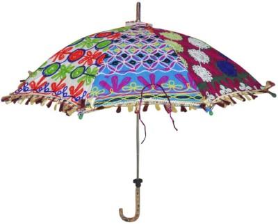 Lal Haveli Designer Cotton Sun Umbrella(Multicolor)