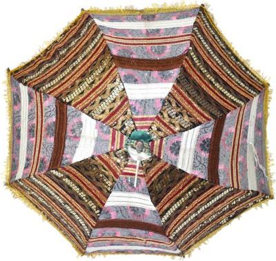 Lal Haveli Large Size Handmade Umbrella(Multicolor)