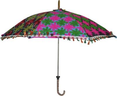 Lal Haveli Single Fold Designer Umbrella(Multicolor)