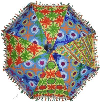 Lal Haveli Cotton Sun Umbrella(Multicolor)