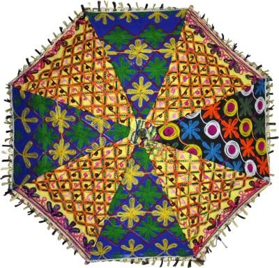 Lal Haveli Handmade Embroidery Work Umbrella(Multicolor)