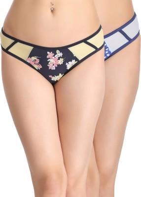 Clovia Women's Bikini Multicolor Panty(Pack of 2) at flipkart