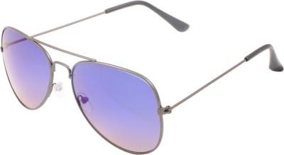 ESHTYLE BLUE REFLECTING Aviator Sunglasses(Blue)