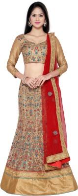 Aasvaa Net Embroidered Semi-stitched Lehenga Choli Material