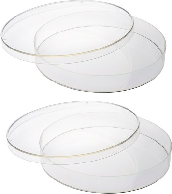 BFC Glass Reusable Petri Dish(80 mm Pack of 2)