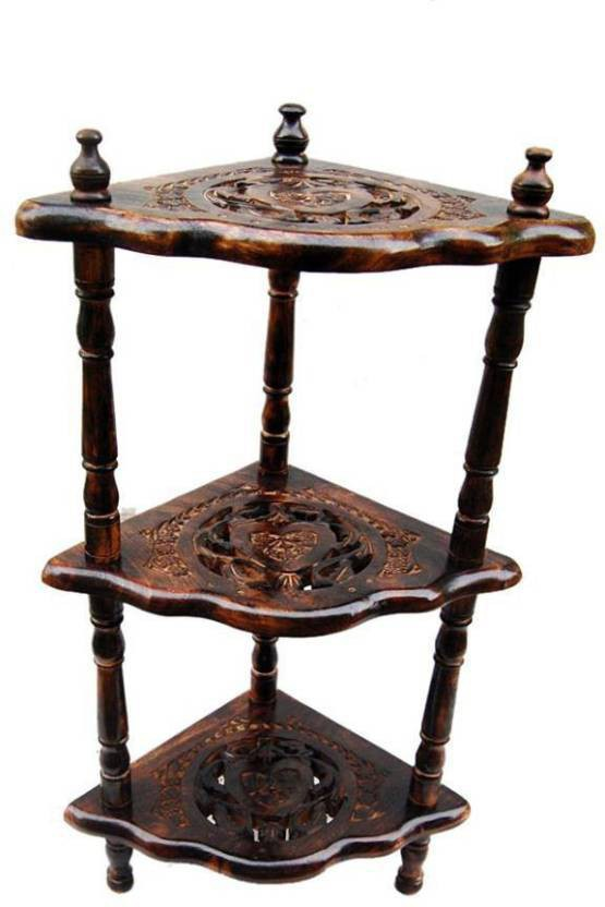 View Huzain Handicrafts Wooden Wall Shelf(Number of Shelves - 3) Furniture (huzain handicrafts)