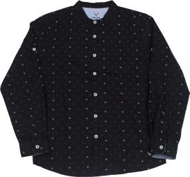 Allen Solly Junior Boys Solid Casual Black Shirt