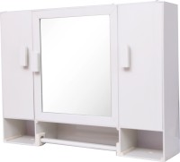 WINACO New Monalisa-1 Bathroom Cabinet Plastic Wall Shelf(Number of Shelves - 4, White)