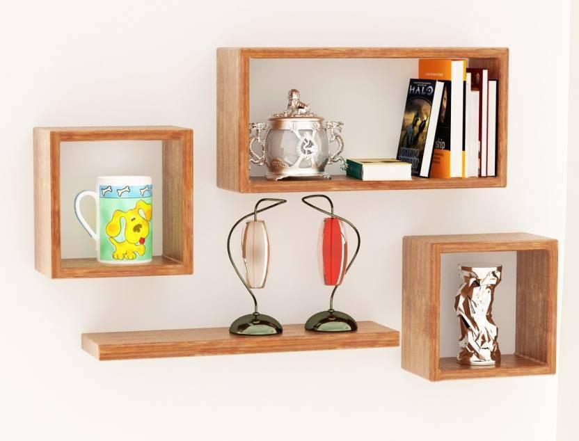 View Woodenartisan Wooden Wall Shelf(Number of Shelves - 4) Furniture (Woodenartisan)