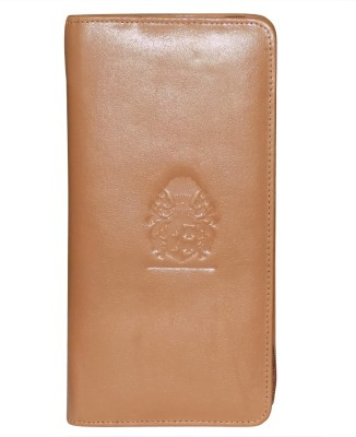 Style 98 Girls Tan Genuine Leather Wrist Wallet(9 Card Slots)