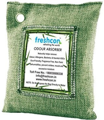 Freshcon Odour Absorber Bag (Naturally Removes Odors, Allergens and Harmful Pollutants. Portable Room Air Purifier) 500gm Green Bag Portable Room Air Purifier(Green)