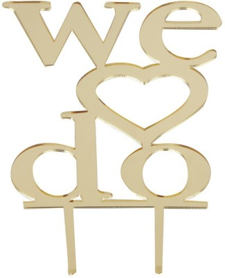 Flour Butter Chocolate Acrylic Topper - We Do Gold - FBC0043 Cake Topper(Gold Pack of 1)
