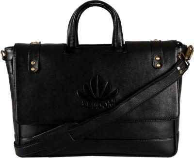 Abloom ABLM1513 Medium Briefcase - For Men(Black)